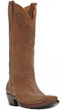 Old Gringo® Ladies Tan Viridiana Embroidered Snip Toe Western Boots