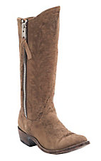Old Gringo® Women's Tan Leopardito Razz Zipper Round Toe Western Fashion Boots