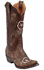 Old Gringo� Ladies Distressed Tyler w/ Floral Embroidery Snip Toe Western Boot