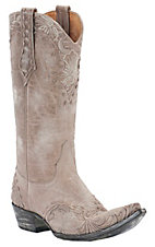 Old Gringo® Ladies Erin Cream w/ Floral Embroidery Pointed Toe Western Boots
