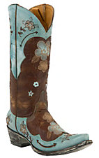 Old Gringo® Ladies Bonnie Brown w/Turquoise Embroidered Flowers Snip Toe Boots