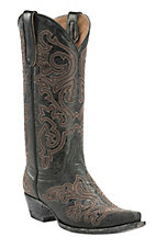 Old Gringo Yippee Ki Yay Women's Black Night Hawk Stitched Snip Toe Western Boots