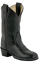 Old West JAMA Childrens Black Corona Western Boots