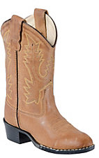 Old West® Youth Tan Brown Corona Calf Leather Western Boots