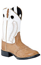 Old West® Jama™ Kid's Distressed Brown w/ White Top Round Toe Ultra Flex Boot