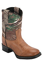 Old West® Infant Tan Canyon w/ Camo Top Round Toe Boot