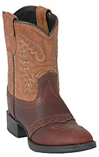 Old West® Infant Thunder Brown Saddle Vamp w/ TanTops