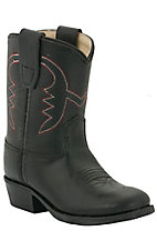 Old West® Jama™ Infant Black Corona Calf Western Boots