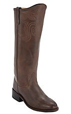 Old West® Ladies Antique Chocolate Barnwood Equestrian Tall Boot