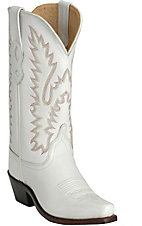 Old West Jama Ladies Classic White Wedding Boots