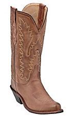 Old West Jama Ladies Classic Tan Handcrafted Western Boots