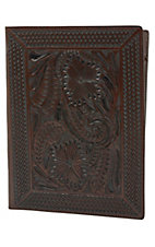 3-D Belt Company® Chocolate Fancy Embossed Leather Report Folder
