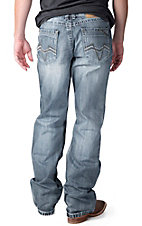 Petrol Men's Cooper Medium Wash Relaxed Fit Boot Cut Jean