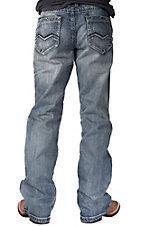 Petrol� Men's Clay Light Wash V-Pocket Relaxed Fit Boot Cut Jean