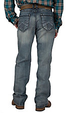 Petrol Men's Lennon Medium Wash Relaxed Fit Boot Cut Jean