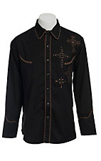 Scully® Western Mens Shirt P796BLK