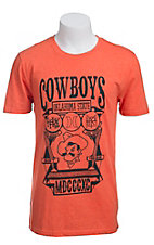 Hurley Men's Orange with Black Cowboys Oklahoma State Short Sleeve Tee