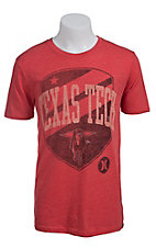 Hurley Men's Red with Black Shield and Raider Texas Tech Short Sleeve Tee