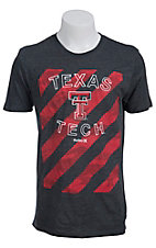 Hurley Men's Charcoal Grey with Red Stripes Texas Tech Short Sleeve Tee