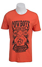 Hurley Men's Orange with Black Cowboys Oklahoma State Shield Short Sleeve Tee
