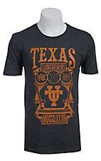 Hurley Men's Charcoal Grey with Burnt Orange Texas Longhorns Shield Short Sleeve Tee