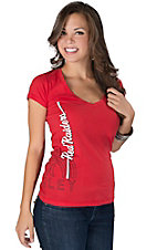 Hurley® Women's Red with White Red Raiders Logo Short Sleeve Tee