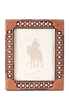 Montana Silversmiths® Brown Tooled and Studded 8x10 Rectangle Picture Frame