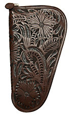 3D Belt Company® Brown  Medium Pistol Case with Fancy Embossed Leather