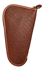 3D Belt Company® Tan Medium Pistol Case with Basket Weave Embossed Leather