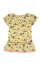 Wrangler® All Around Baby™ Girls Yellow Western Print Short Sleeve Dress