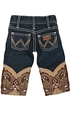 Wrangler® All Around Baby™ Denim Jean w/ Brown Boot Embroidery