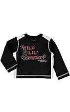Wrangler® All Around Baby™ Boys Black and Grey Wild Lil' Cowboy Long Sleeve Tee