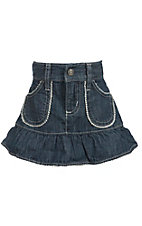 Wrangler All Around Baby Infant Denim Ruffle Skirt