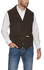 Powder River® Mens' Chocolate Brown Montana Wool Vest
