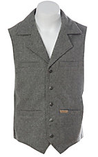 Panhandle Slim Powder River Mens Grey Wool Montana Vest