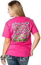 Girlie Girl® Ladies Pink Pretty in Pink Dangerous in Camo Short Sleeve Tee