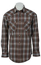 Roughstock® Men's Blue, Rust & Brown Plaid Long Sleeve Western Shirt