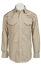 Roughstock® Men's Tan Antique Print Long Sleeve Western Shirt R0S2349