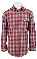 Roughstock® Men's Red, Blue, & Cream Plaid Long Sleeve Western Shirt R0S2354