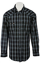 Roughstock® Men's Blue, Black & Lurex Plaid Long Sleeve Western Shirt R0S2383