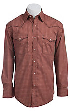 Roughstock Men's Seneca Orange with Vintage Print Long Sleeve Western Shirt R0S5261