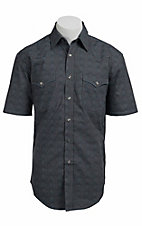 Roughstock® Men's Grey Antique Print Short Sleeve Western Shirt R1S4427