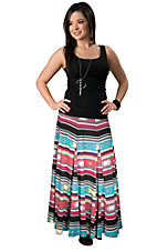 Rancho Estancia® Women's Multi-Colored Southwest Stripe Maxi Skirt