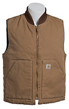 Carhartt� Brown Naturally Worn Duck Arctic Quilt-Lined Vest