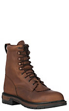 Rocky Boots Mens Rider Waterproof Lace-up Workboots -Tan