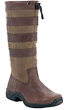 Rocky Barnstormer Ladies Chocolate & Khaki Distressed Water Proof Round Toe Boot