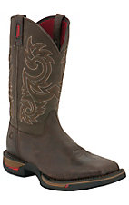 Rocky Long Range Men's Coffee Brown Square Non-Steel Toe Western Work Boots