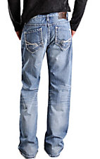 Rock & Roll Cowboy Light Stonewash Cannon Relaxed Fit Straight Leg Jeans