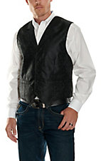 Scully® Black on Black Paisley Vest