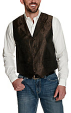 Scully Brown on Black Paisley Vest